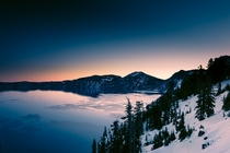 Sunrise at Crater Lake Oregon