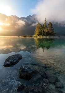 Sunrise at Eibsee Bavaria Germany