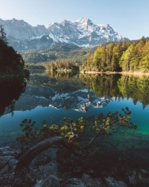Sunrise at Eibsee Germany