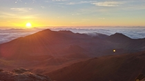 Sunrise at  ft - Mount Haleakala in Maui Hawaii