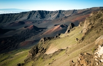 Sunrise at  ft over Haleakala Crater Maui