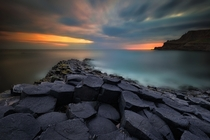 Sunrise at Giants Causeway Northern Ireland  photo by Pawel Kucharski
