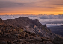 Sunrise at Haleakal National Park Maui Island Hawaii US