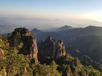 Sunrise at Huangshan Mt Huang eastern China