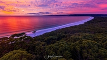 Sunrise at Hyams Beach in Jervis Bay National Park NSW Australia