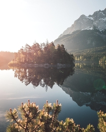 Sunrise at Lake Eibsee Zugspitze Germany  nicoshoot