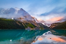 Sunrise at Lake Louise Alberta