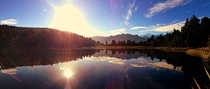 Sunrise at Lake Matheson New Zealand