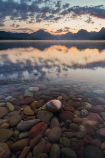 Sunrise at lake McDonald Glacier NP