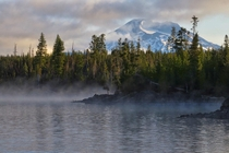 Sunrise at Lava Lake in Deschutes National Forest Oregon