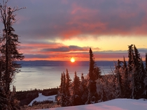 Sunrise at Le Massif Qubec Canada OC