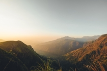 Sunrise at Little Adams Peak near Ella Sri Lanka