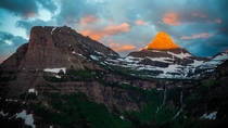 Sunrise at Logan Pass Glacier National Park