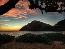 Sunrise at Makapuu Beach Oahu Hawaii