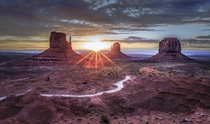 Sunrise at Monument Valley Arizona  by Frederic Huber