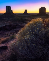 Sunrise at Monument Valley Utah