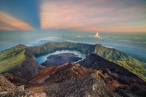 Sunrise at Mount Rinjani Indonesia  Photographed by Abdul Azis