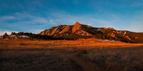Sunrise at the Flatirons Colorado