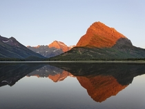 Sunrise at the Glacier National Park Montana xpost rreflectionpics by Adam Jones