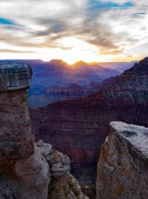 Sunrise at the Grand Canyon Mathers point