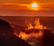 Sunrise at the Grand Canyon of the East Letchworth State Park