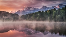 Sunrise at the Lake - the Wagenbrch lake Germany  photo by Andreas Wonisch