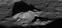 Sunrise at the Moons famous Tycho Crater This picture was shot by the Lunar Reconnaissance Orbiter near the craters central peak complex
