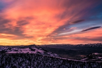 Sunrise at the peak of Powder Mountain Utah