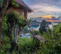 Sunrise at the Treehouse Nusa Penida Indonesia