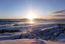 Sunrise at Thingvellir National Park Iceland