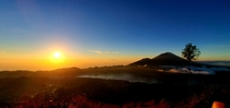 Sunrise at top of Mt Batur Bali  x