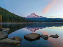 Sunrise at Trillium Lake Mt Hood National Forest OR