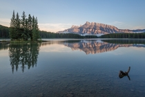 Sunrise at Two Jack Lake Alberta Canada