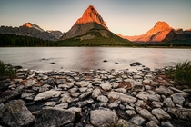 Sunrise at Two Medicine Lake - Glacier National Park