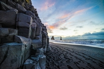 Sunrise at Vik Beach Iceland by C Ried
