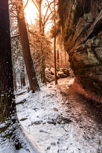 Sunrise at Virginia Kendall Ledges in Cuyahoga Valley National Park OH