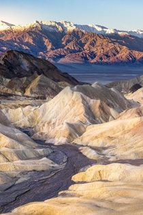 Sunrise at Zabriskie Point Death Valley National Park USA