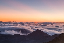 Sunrise atop the  ft summit of Haleakal - Maui Hawaii