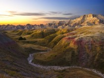 Sunrise Badlands National Park South Dakota