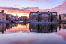 Sunrise by the Parliament House Stockholm