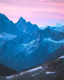 Sunrise dreamscapes in the North Cascade Range Washington