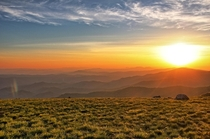 Sunrise from Appalachian Trail on Roan Mountain TN