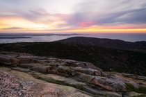 Sunrise from Cadillac Mountain Acadia National Park Maine
