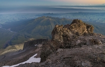 Sunrise from Mount Taranaki New Zealand
