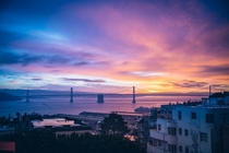 Sunrise from Telegraph Hill San Francisco xpost from rsanfrancisco by ucaliform
