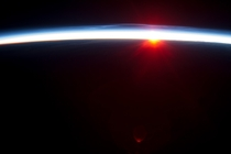 Sunrise from the ISS above Alaska on