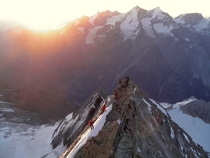 Sunrise from the Weisshorn