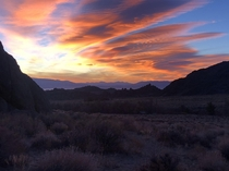 Sunrise in Alabama Hills CA