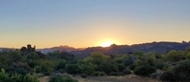 Sunrise in Bulldog Canyon AZ