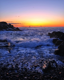 Sunrise in Cape Elizabeth Maine   x